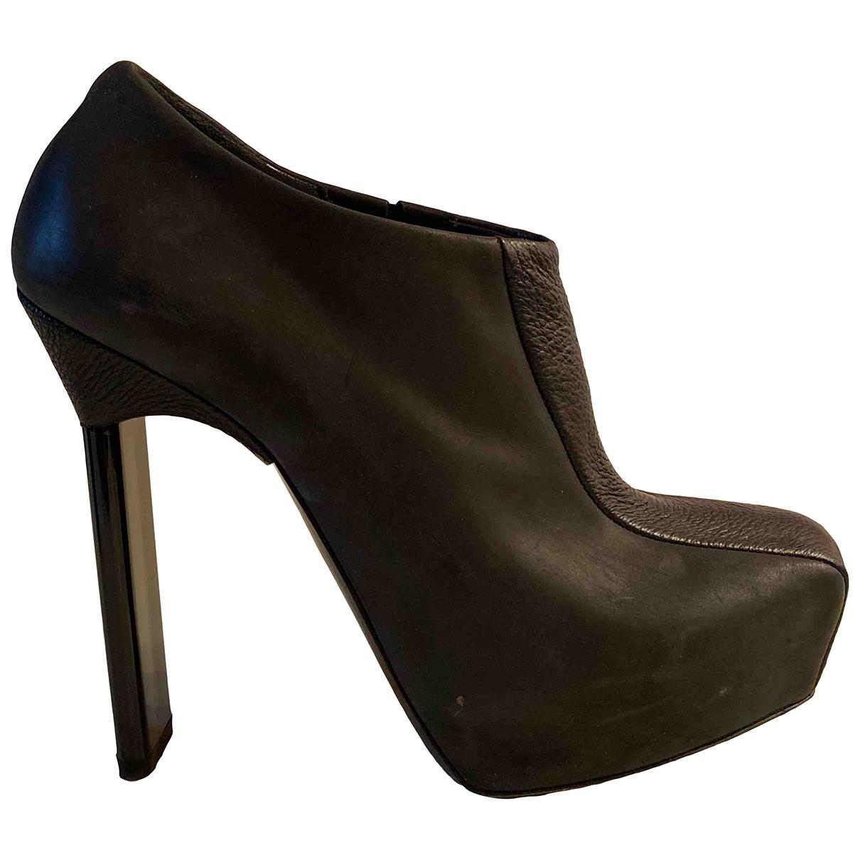 Balenciaga - Boots   pour femme en cuir - noir