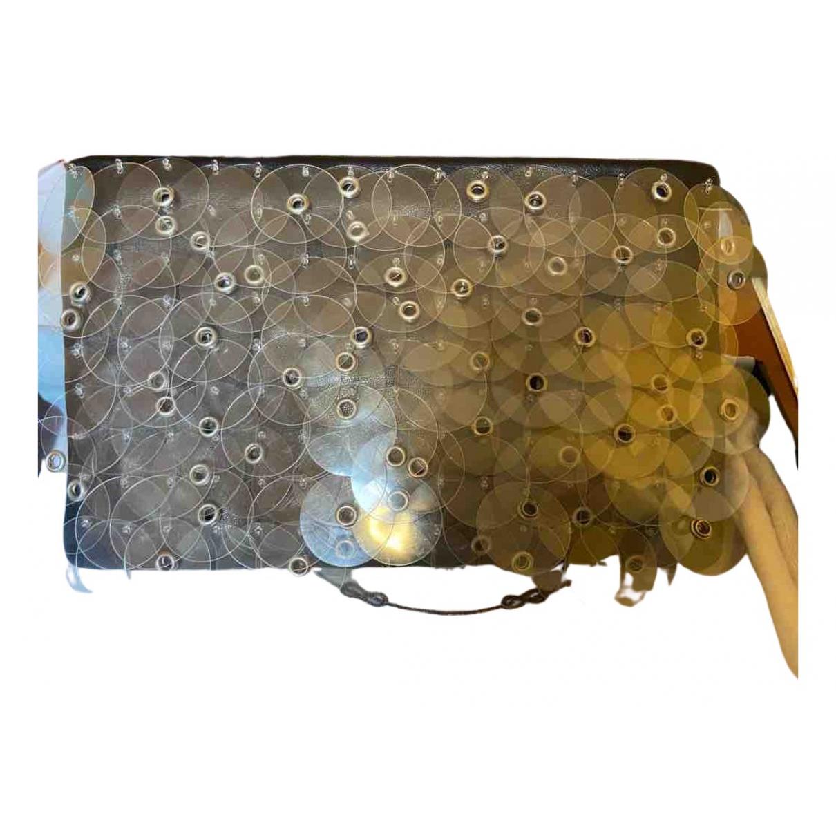 Prada \N Clutch in  Metallic Leder