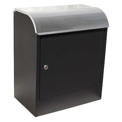 WF-PB018 Selma locking mail & parcel box  black with stainless