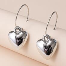 Ohrringe mit Herzen Dekor