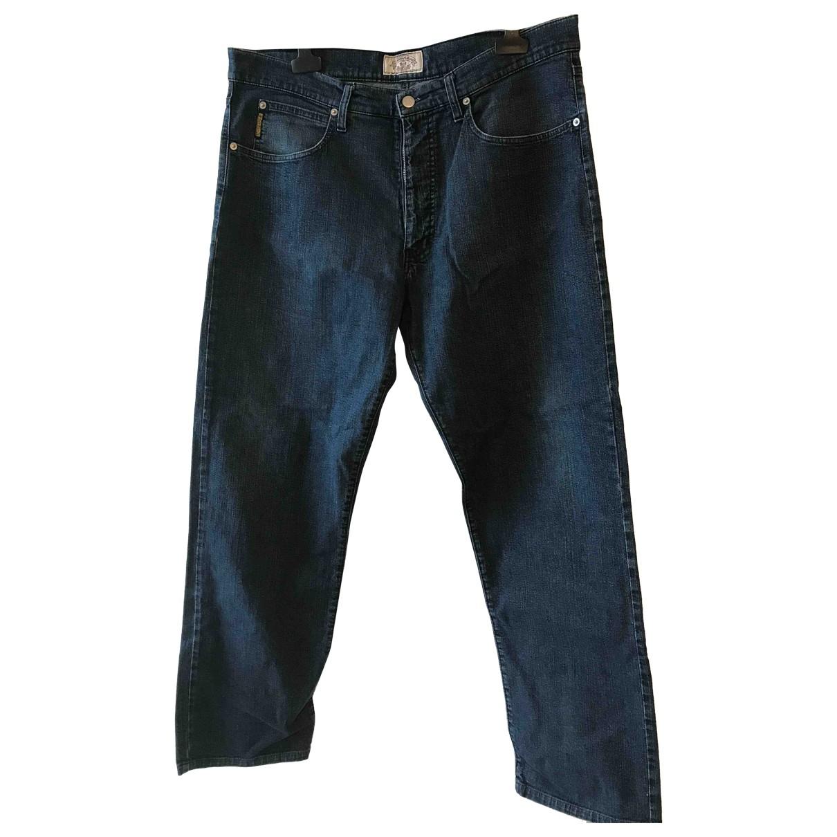 Armani Jeans \N Blue Cotton - elasthane Jeans for Men 38 FR