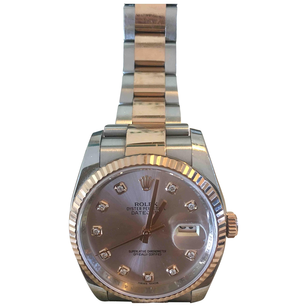 Rolex Datejust 36mm Pink gold and steel watch for Women \N
