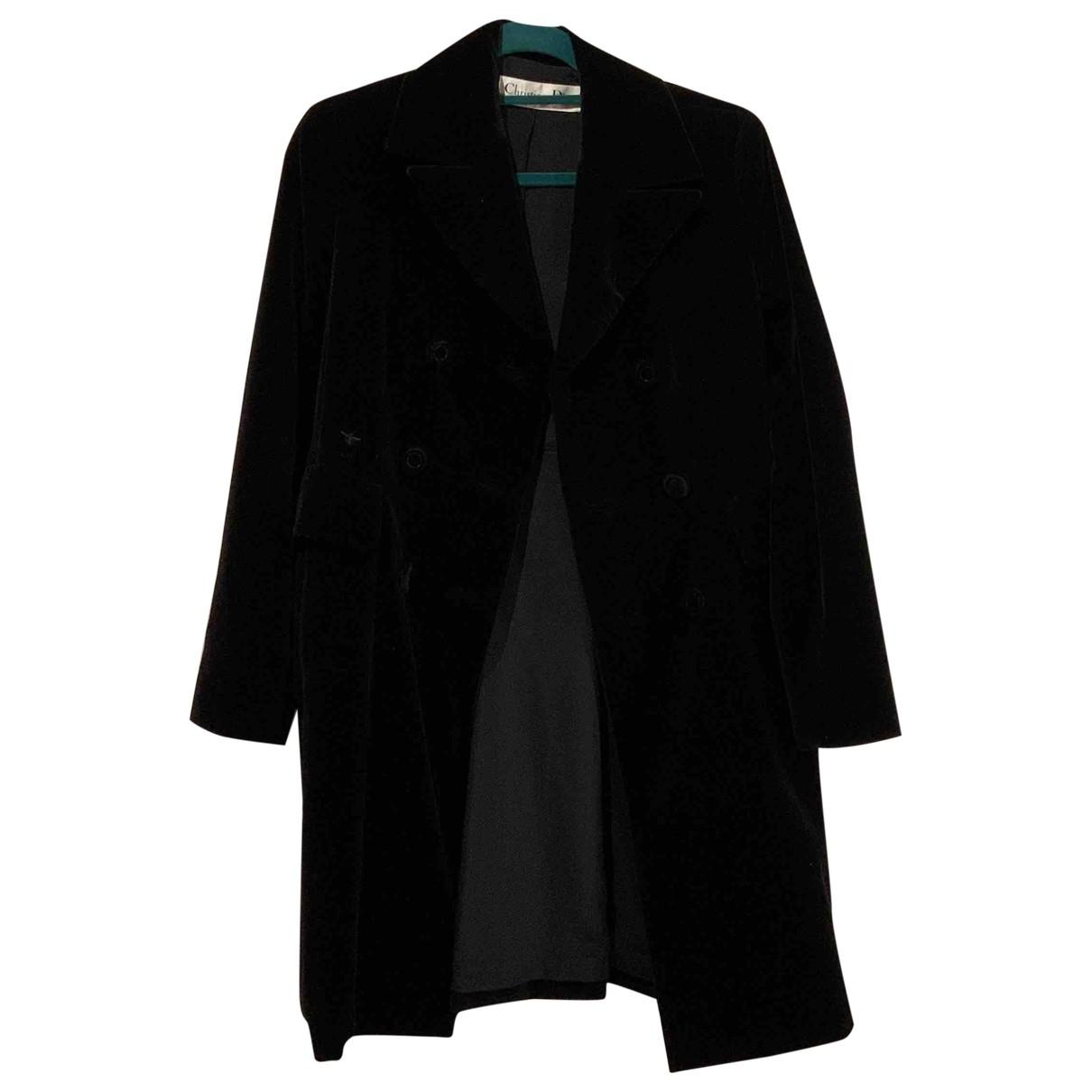 Dior - Manteau   pour femme en velours - noir