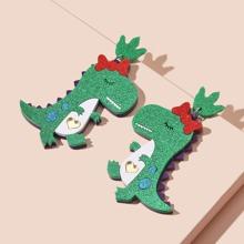 Dinosaur Charm Drop Earrings