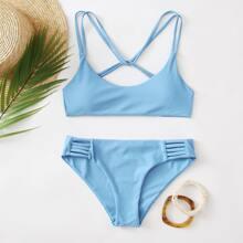 Bikini Badeanzug mit Leiterausschnitt