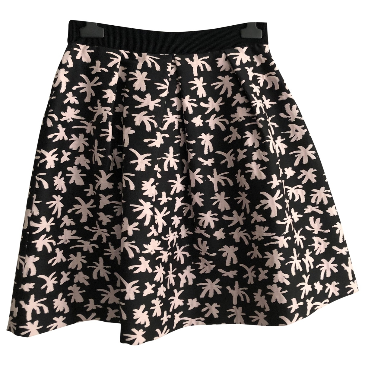 Non Signé / Unsigned \N Black Cotton skirt for Women 44 IT