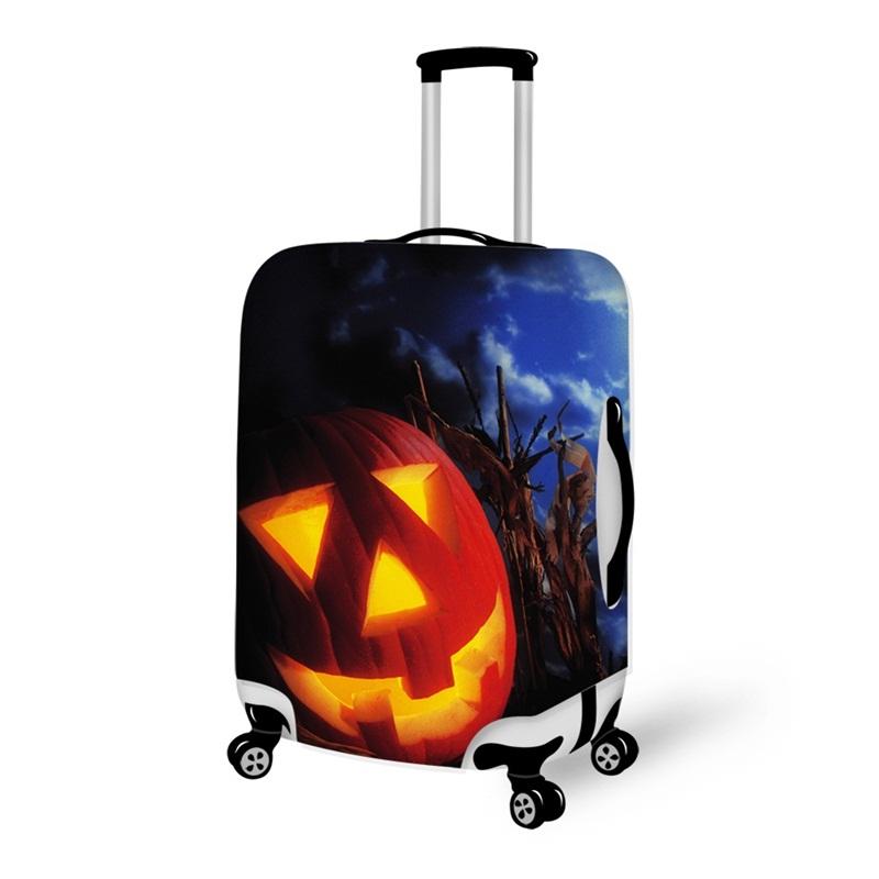 Halloween Huge Pumpkin Waterproof Suitcase Protector for 19 20 21