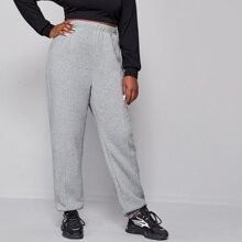 Pantalones Extra Grande Liso Casual