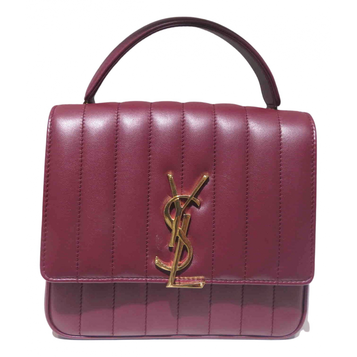Yves Saint Laurent N Burgundy Leather handbag for Women N