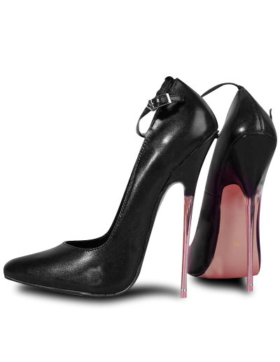 Milanoo 6 3/10'' High Heel Black Cowhide Sexy Pumps