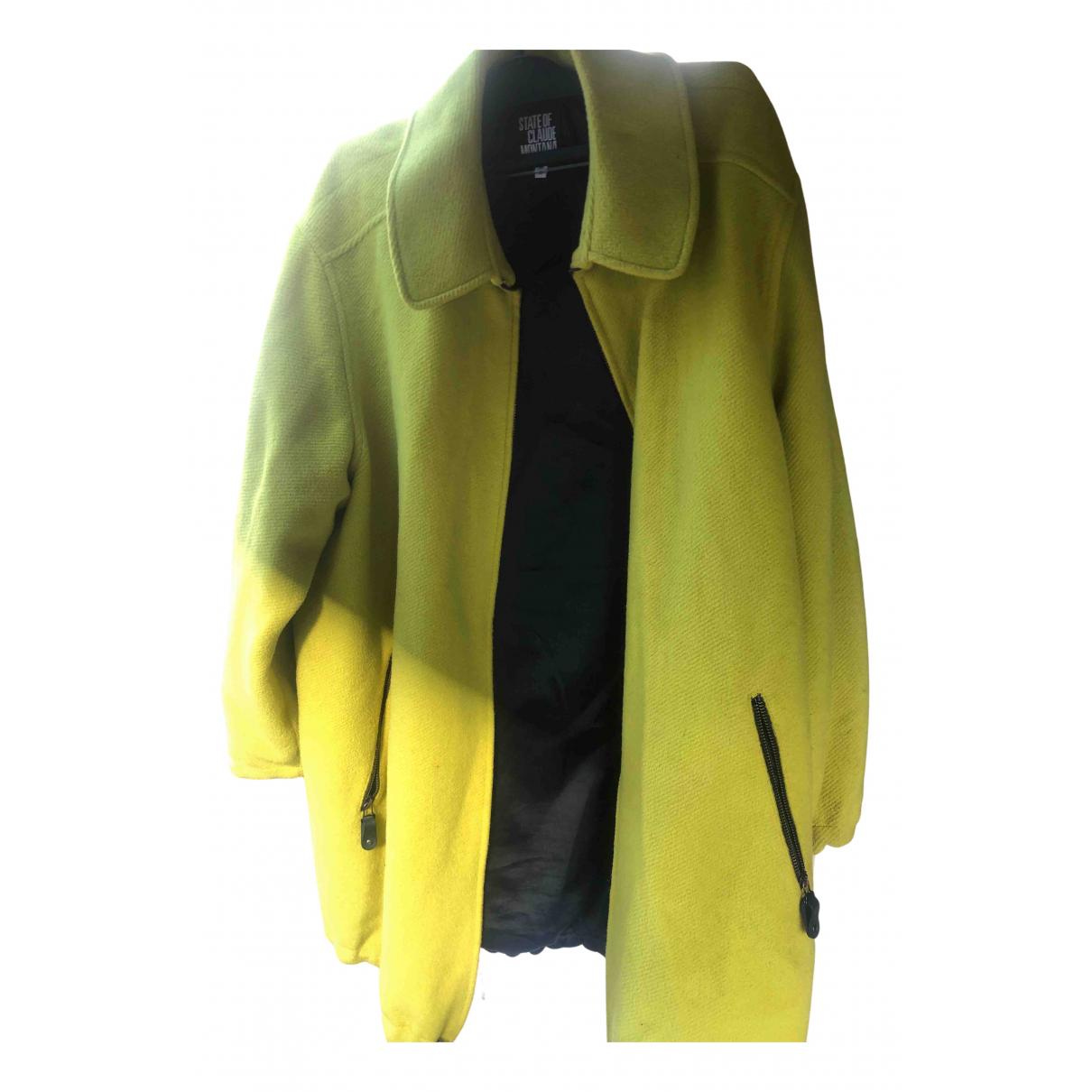 Claude Montana N Yellow Wool coat for Women 44 FR