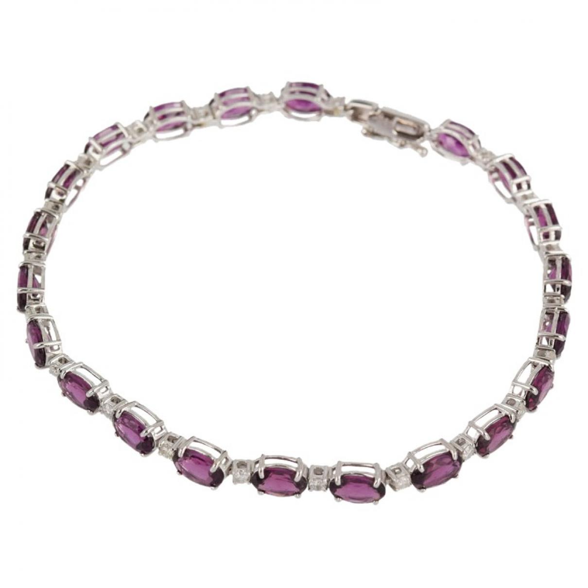 Non Signé / Unsigned \N Purple White gold bracelet for Women \N