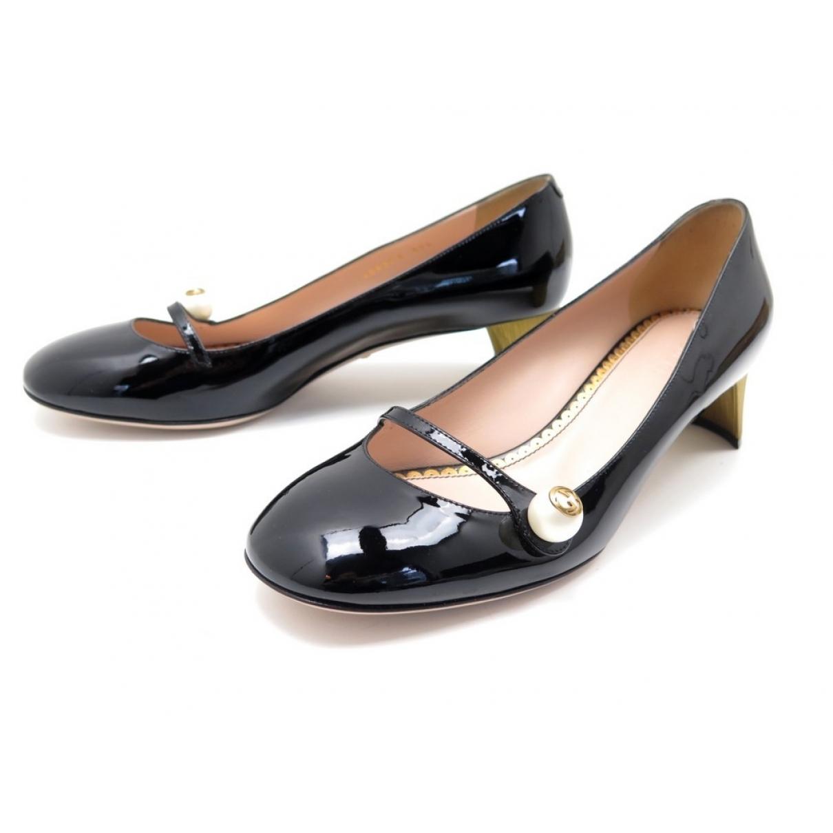 Gucci - Escarpins   pour femme en cuir verni - noir