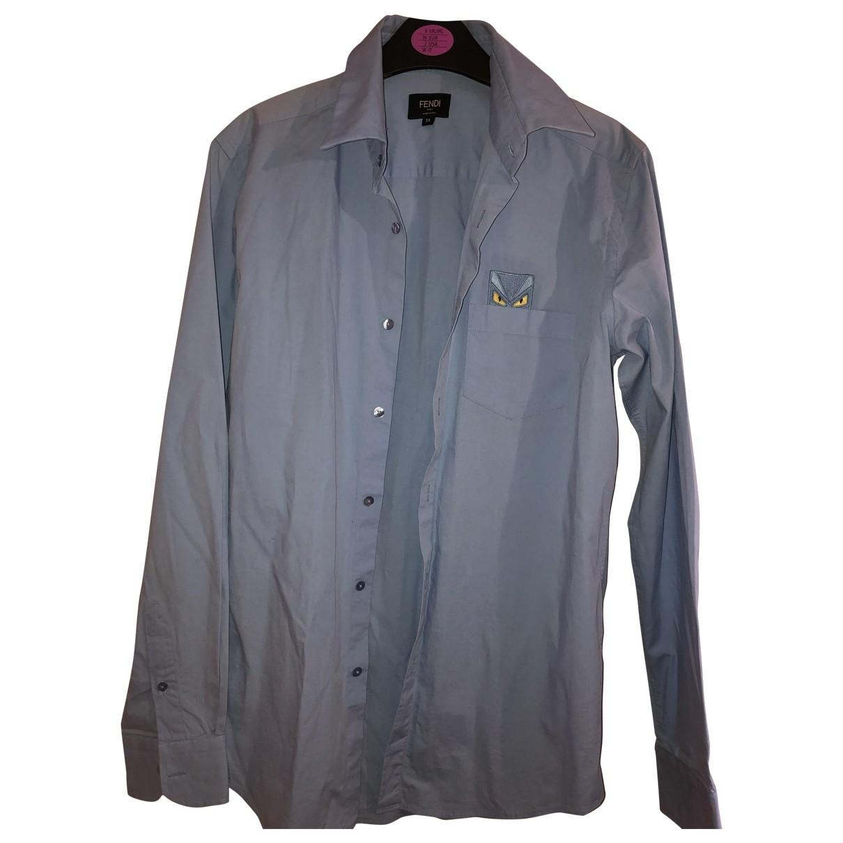 Fendi - Chemises   pour homme en coton - turquoise