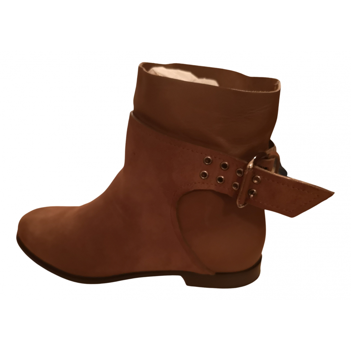 Jimmy Choo N Brown Suede Ankle boots for Women 36 IT