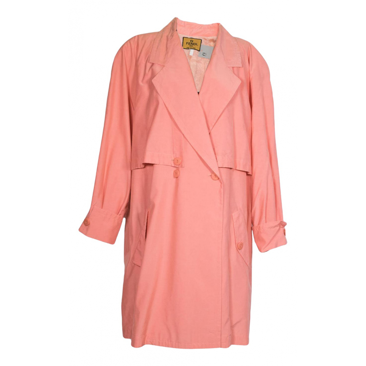 Fendi - Manteau   pour femme en coton - rose