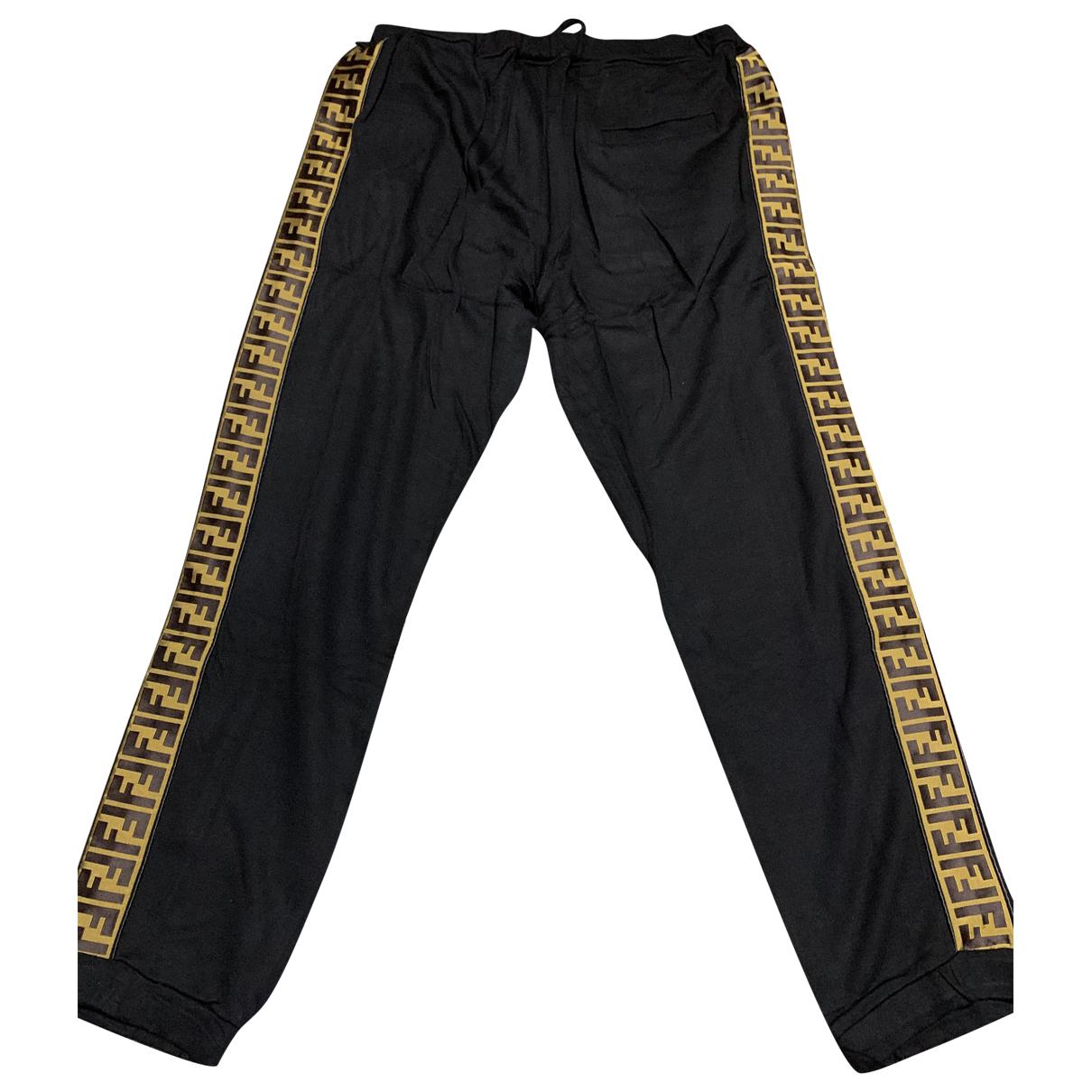 Fendi \N Black Cotton Trousers for Men L International