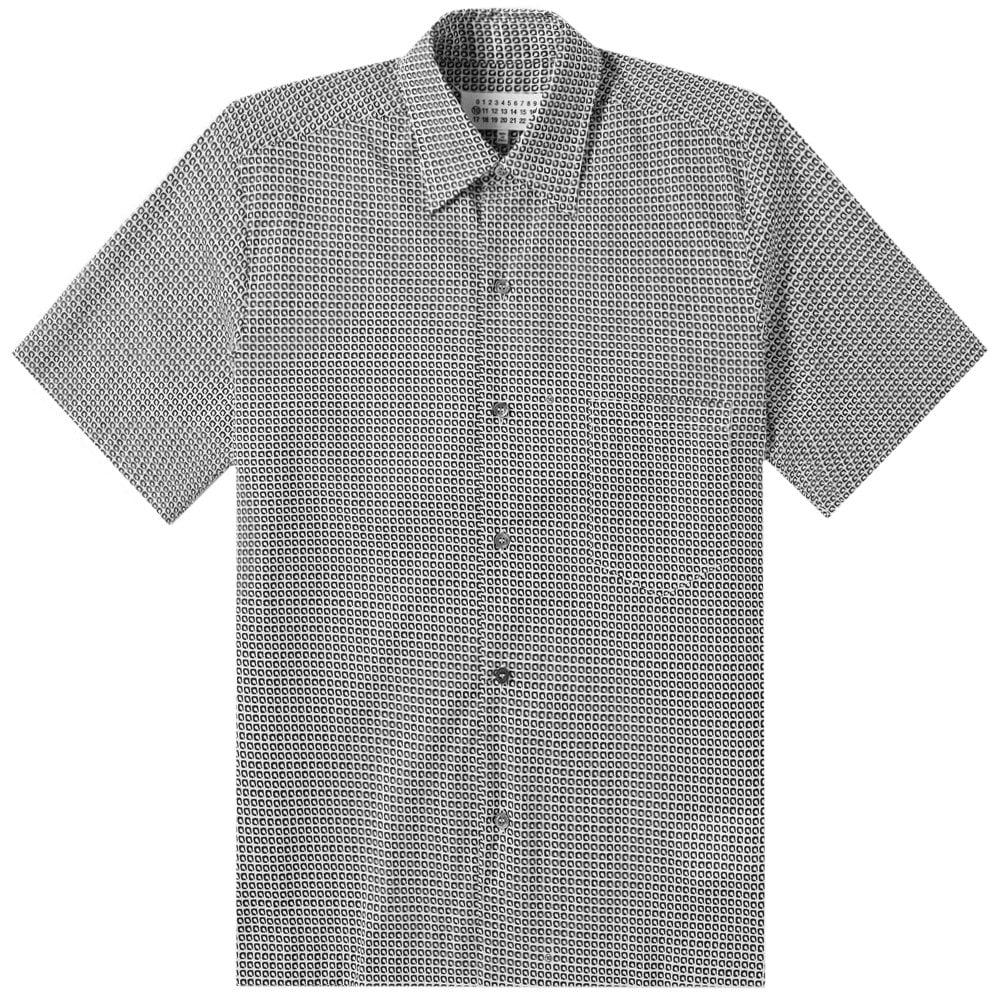 Maison Margiela Patterned Short Sleeve Shirt Grey Colour: GREY, Size: LARGE