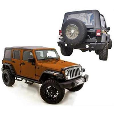 Rampage Rear Bumper and Fender Flare Package (Black) - 0716BUMFPKG