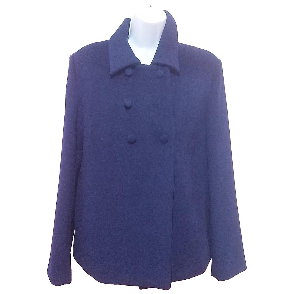 Blumarine N Purple Wool coat for Women 42 IT