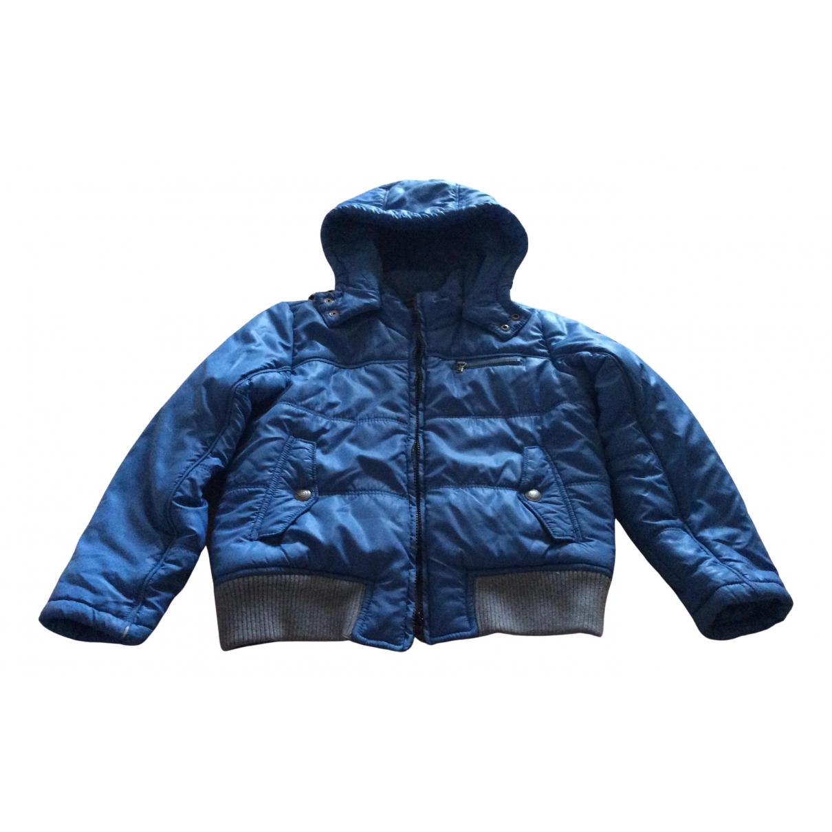 Calvin Klein \N Jacke, Maentel in  Blau Polyester