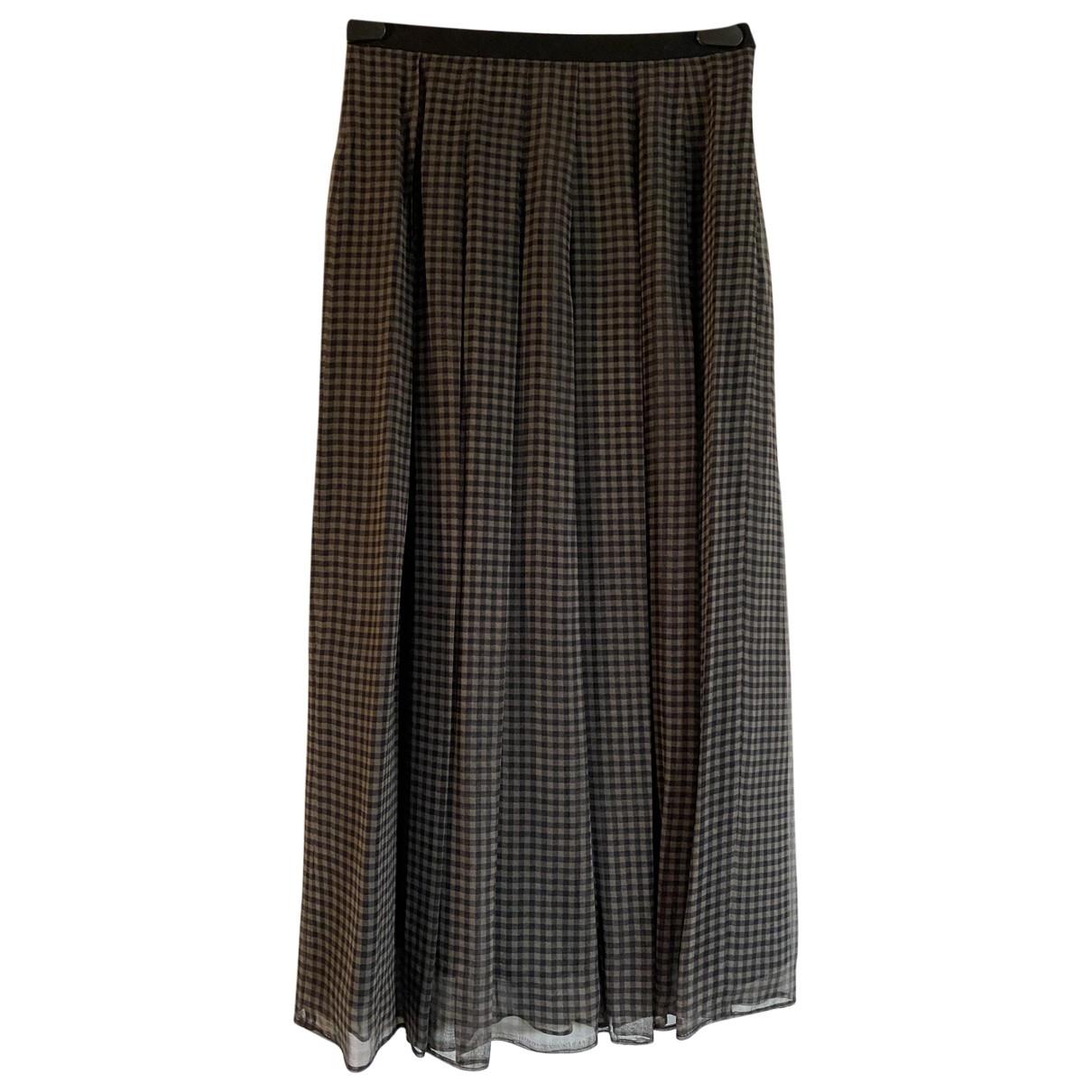 Marella - Jupe   pour femme en soie - noir