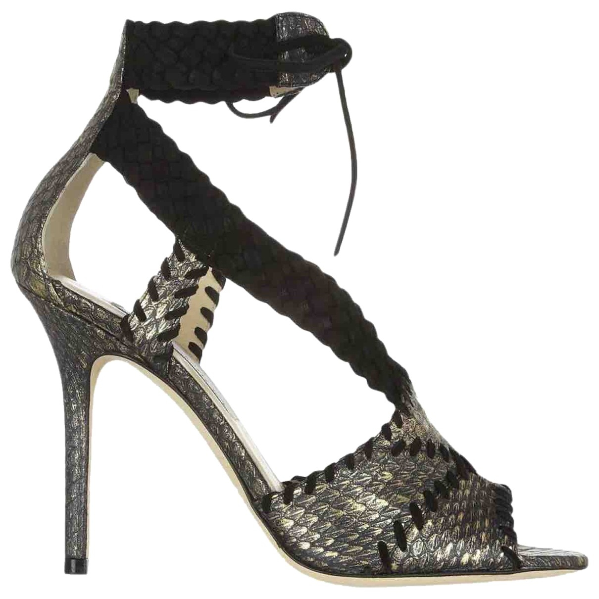 Jimmy Choo Emily Gold Python Sandals for Women 39 EU