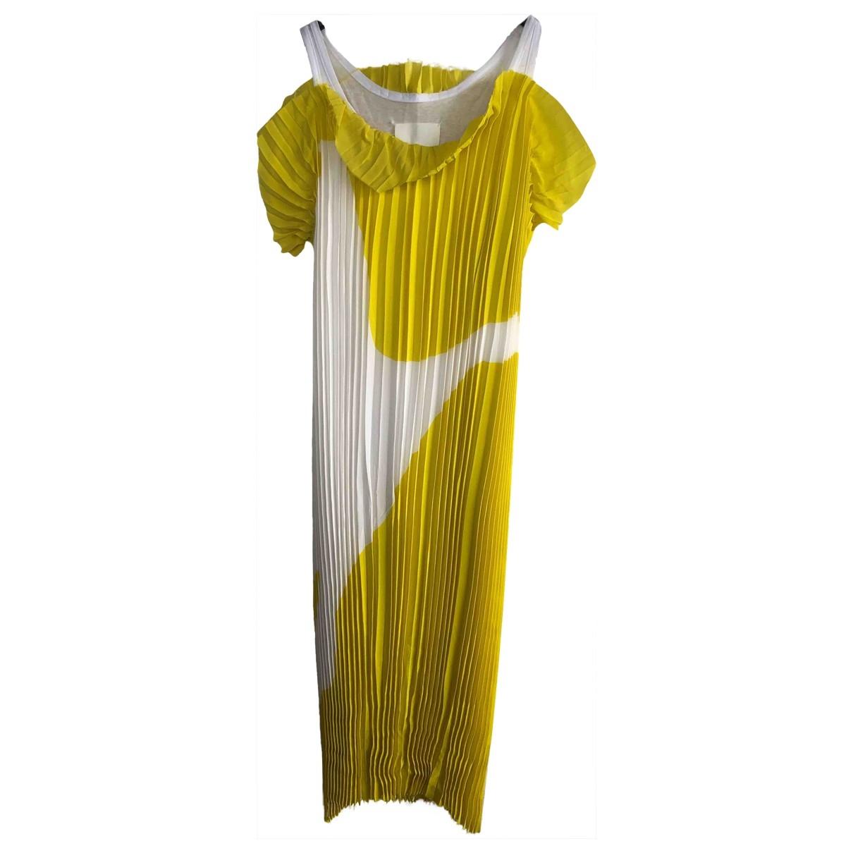 Maison Martin Margiela - Robe   pour femme en soie - jaune