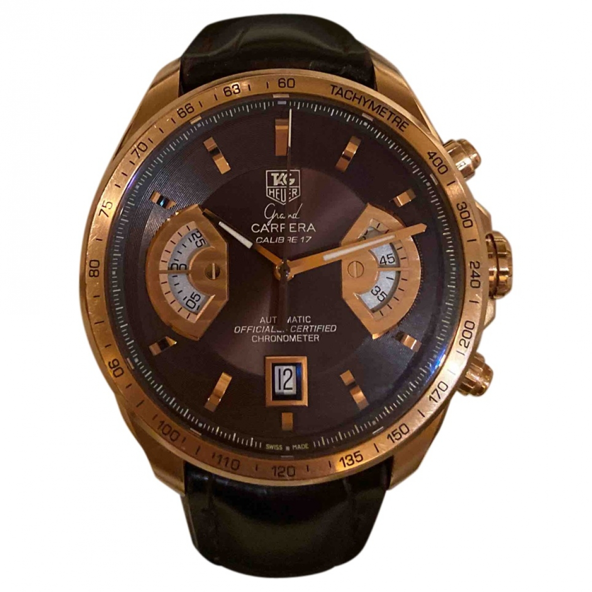 Tag Heuer Carrera Brown Pink gold watch for Men \N