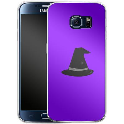 Samsung Galaxy S6 Silikon Handyhuelle - Witches Hat von caseable Designs