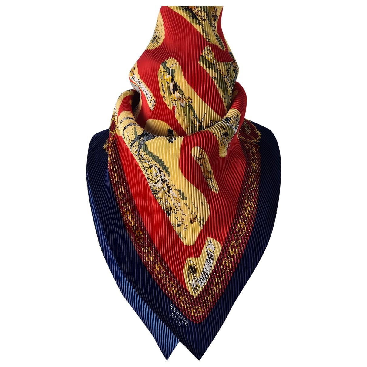 Carre Plisse en Viscosa Multicolor Hermes