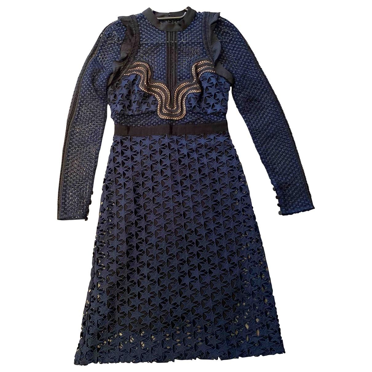 Self Portrait \N Navy Lace dress for Women 8 UK