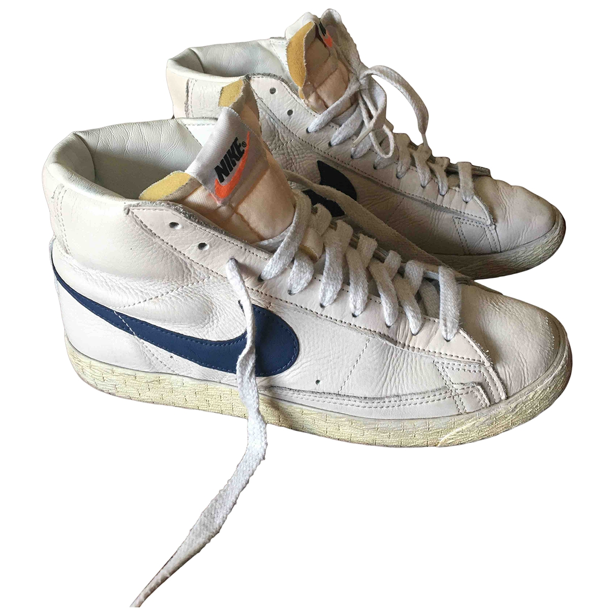 Nike Blazer White Leather Trainers for Women 7 US