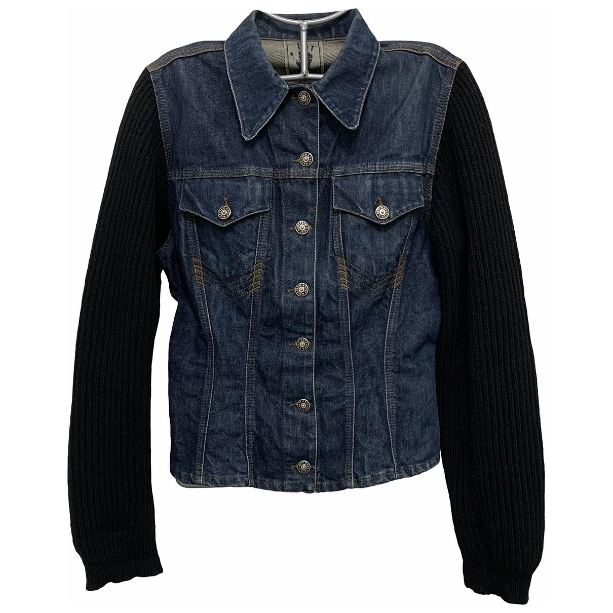 Jean Paul Gaultier \N Lederjacke in  Marine Denim - Jeans