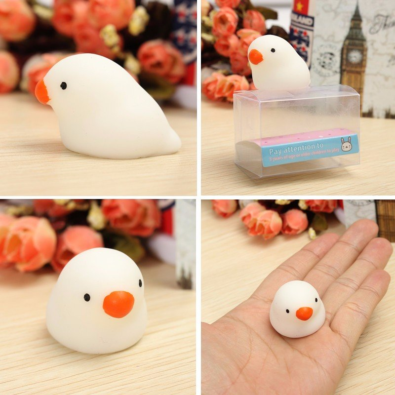 Mochi Fat Pigeon Kawaii Squishy Squeeze Cute Healing Toy Collection Stress Reliever Gift Decor