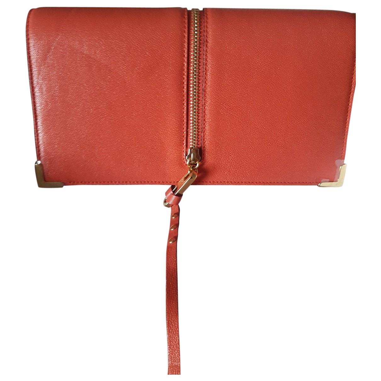 Chloe \N Portemonnaie in  Rot Leder