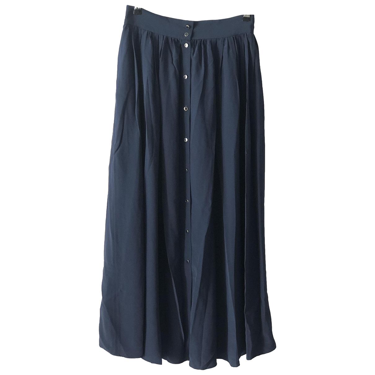 Vanessa Bruno - Jupe   pour femme en soie - bleu