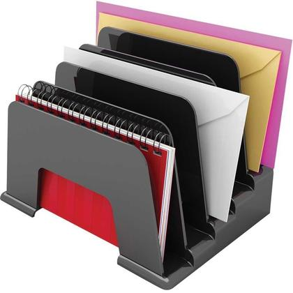 Deflecto@ Sustainable Office Small Incline Sorter - Black (34504)