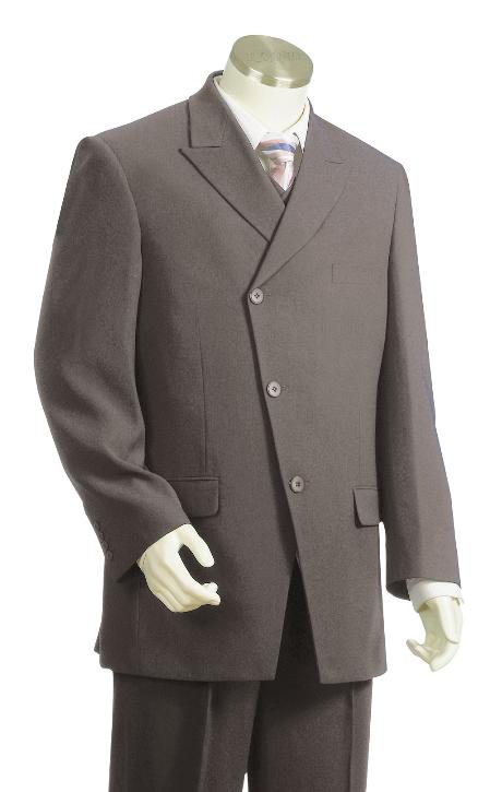 3 Button Grey Zoot Suit Mens