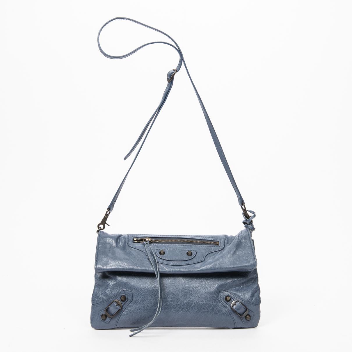 Balenciaga - Sac a main   pour femme en cuir - bleu