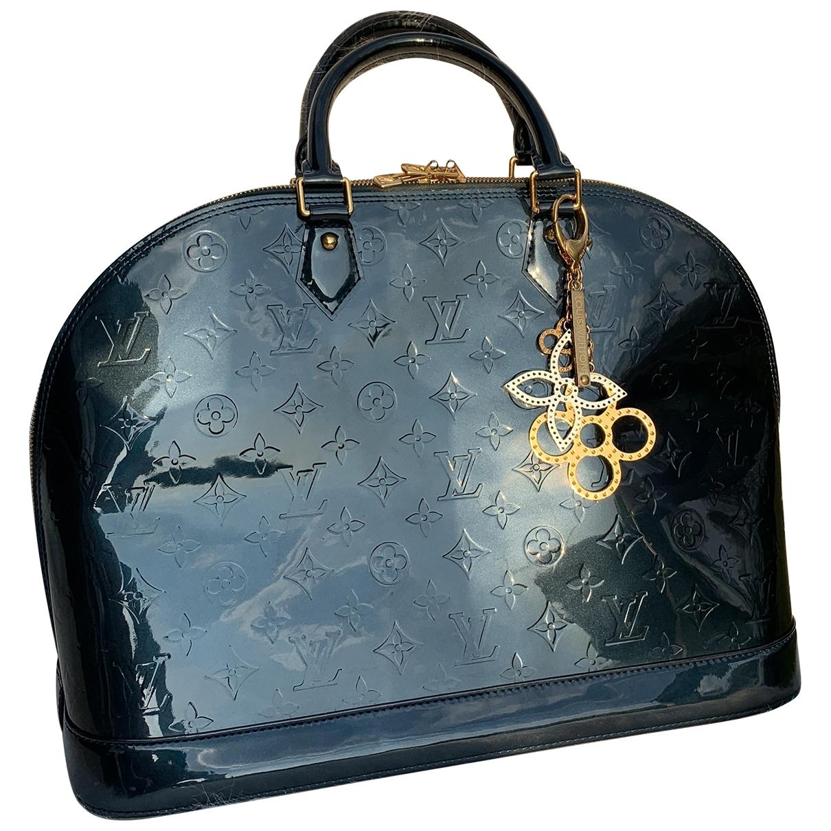 Louis Vuitton Alma Blue Patent leather handbag for Women \N