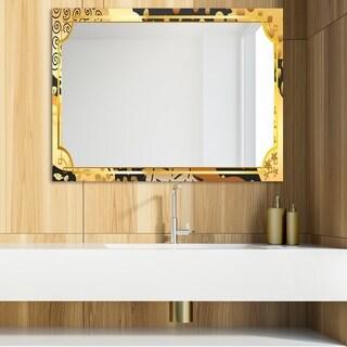 Designart 'Playful Gold 11' Glam Mirror - Modern Vanity Mirror (39.4 in. wide x 29.5 in. high)