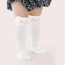 Baby Cartoon Graphic Knee High Socks