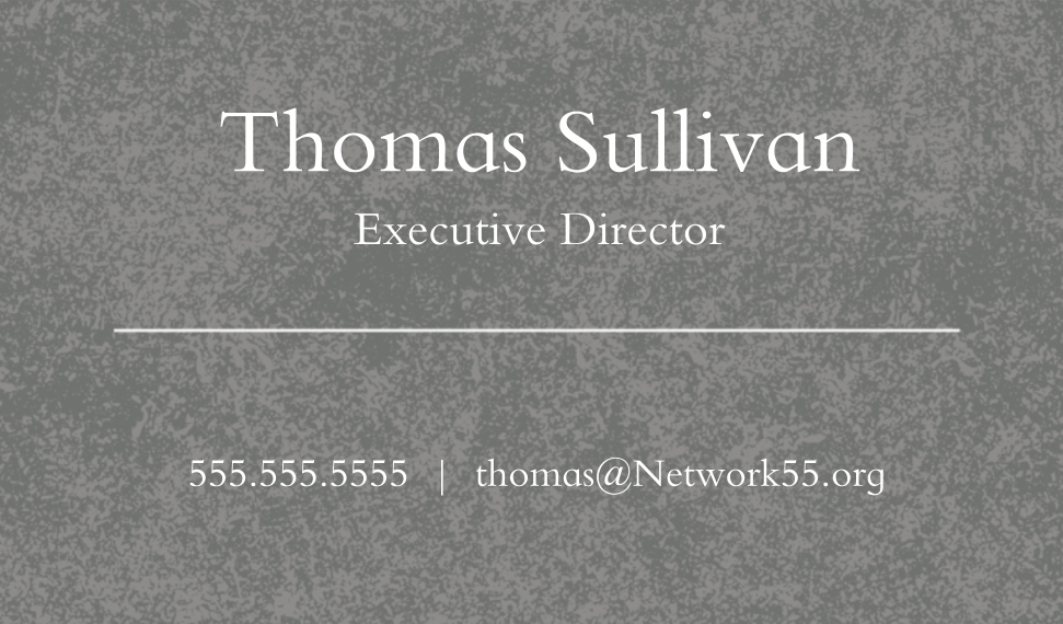Professional Services Business Cards, Set of 40, Silk Rounded, Card & Stationery -Chalk Talk