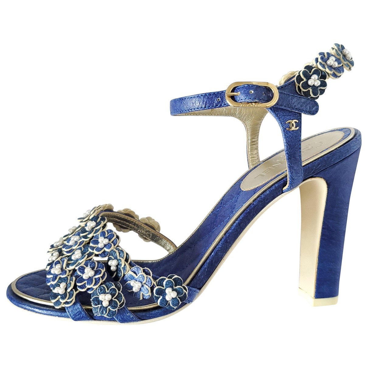 Chanel \N Pumps in  Blau Leder