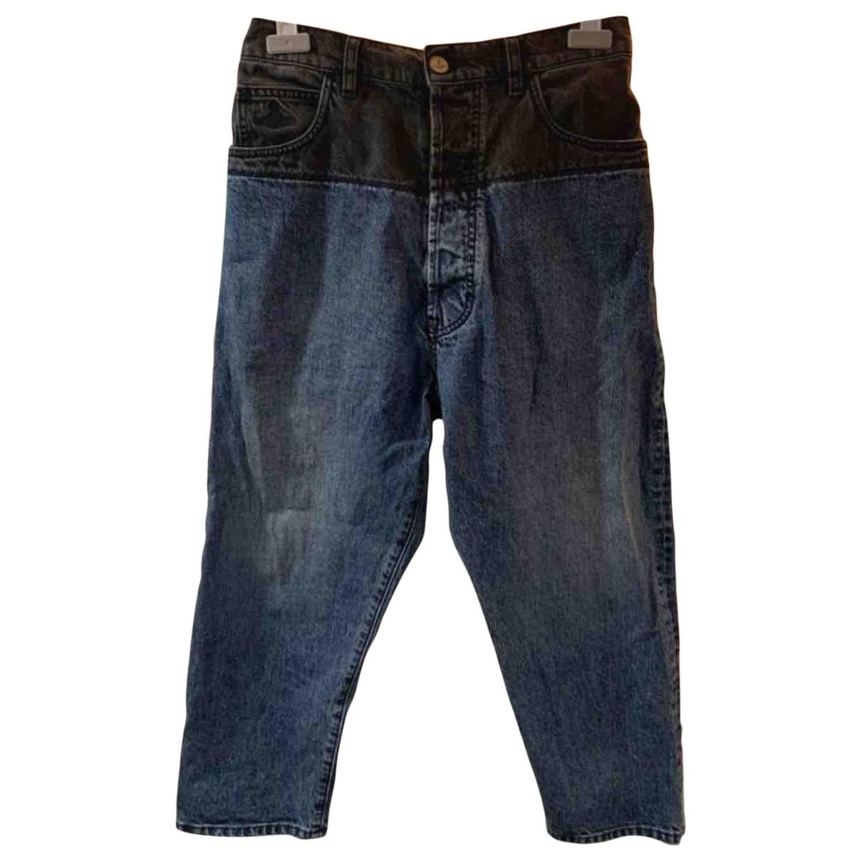 Vivienne Westwood Anglomania \N Blue Cotton Jeans for Men 30 US