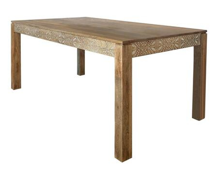 Sorrel Collection 108281 Dining Table with Modern Style Design in Natural Mango