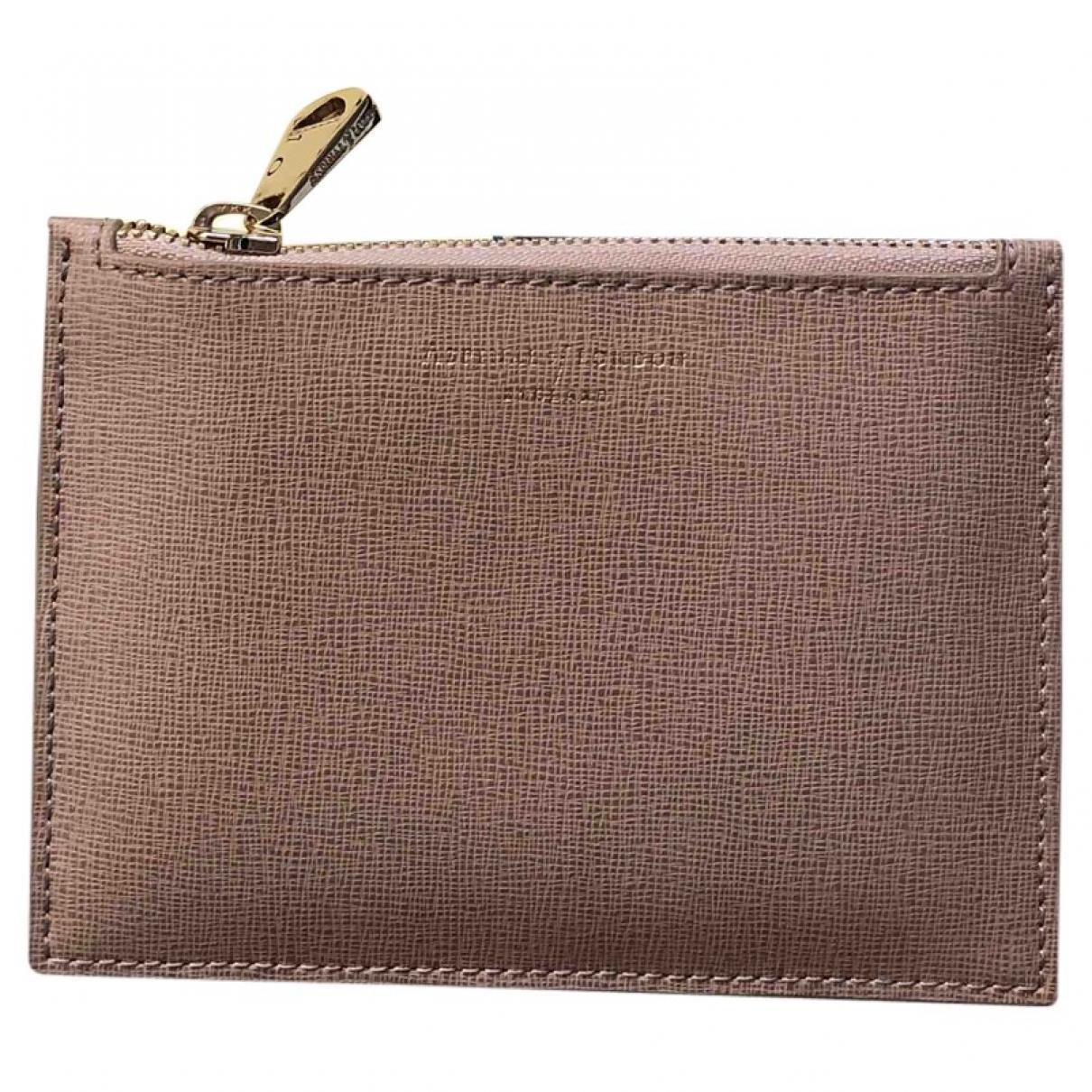 Aspinal Of London - Portefeuille   pour femme en cuir - beige
