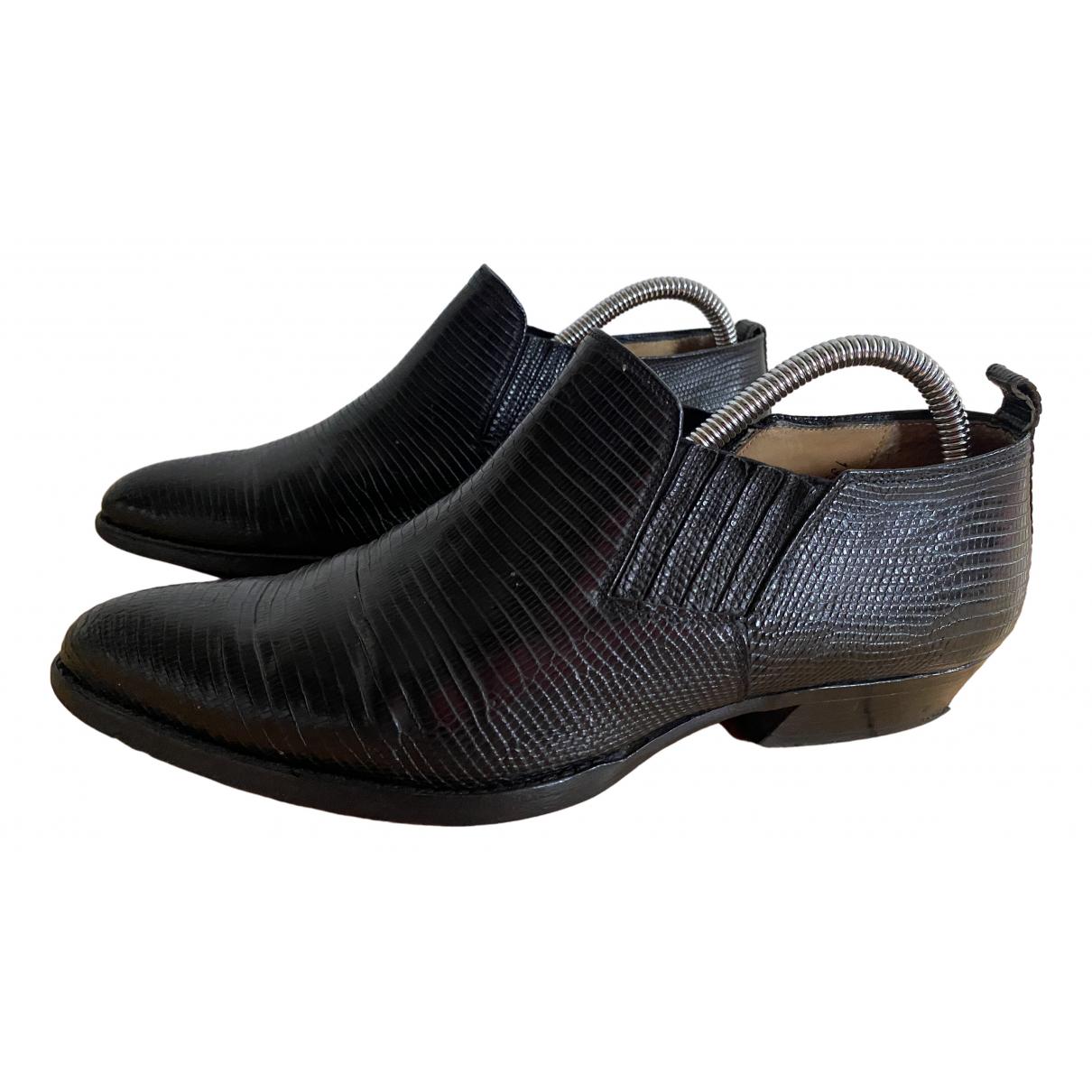 Sartore \N Stiefeletten in  Schwarz Leder