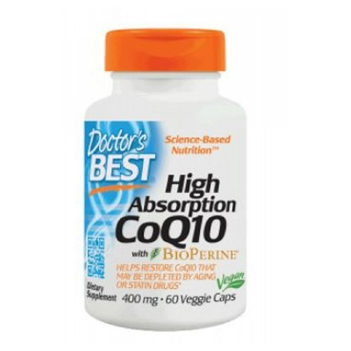 High Absorp CoQ10 with Bioperine 60 Veggi Caps by Doctors Best